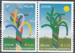 Hellas 2006 Michel 2364C - 2365C Neuf ** Cote (2015) 11.00 Euro Europa CEPT L'intégration - Grèce