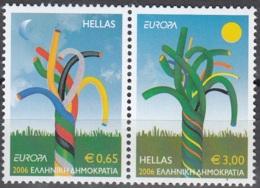 Hellas 2006 Michel 2364A - 2365A Neuf ** Cote (2015) 11.00 Euro Europa CEPT L'intégration - Grèce