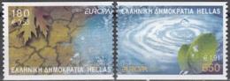 Hellas 2001 Michel 2069C - 2070C Neuf ** Cote (2015) 8.50 Euro Europa CEPT L'eau Richesse Naturelle - Grèce
