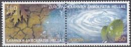 Hellas 2001 Michel 2069A - 2070A Neuf ** Cote (2015) 8.50 Euro Europa CEPT L'eau Richesse Naturelle - Grèce