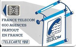 CARTE-PUBLIC-600 AGENCES-120U-Te13-SC4An-OFFSET GLACE-Trou 7--5N°Pe 16140 D/Frappe-Utilisé-TBE-RARE - Frankrijk