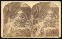 Oversized Stereoview - Church Of Notre Dame Montreal CANADA - Visionneuses Stéréoscopiques