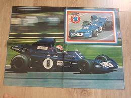 Automobile F1, Formule 1 - Poster Pilote De Course, Cevert - Elf Tyrrell - Ford, Goodyear, Journal Tintin L'Hebdotimiste - Automobile - F1