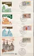 Germany Set On 4 FDCs From 1975 - Architecture