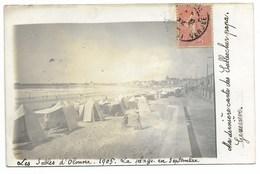 85-LES SABLES-D'OLONNE-CARTE PHOTO-La Plage En Septembre...1905  Animé - Sables D'Olonne