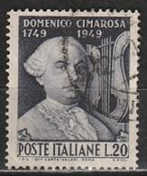 # 1949 Italia Repubblica: Cimarosa, Usato - 6. 1946-.. Republic