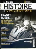 Histoire Et Civilisations N° 37 France Russie , Villas Romaines , Vésale , Naufrage Batavia , Zarathoustra , Golem Pragu - Historia