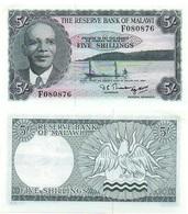 Malawi - 5 Shillings 1964 AUNC P. 1A Lemberg-Zp - Malawi
