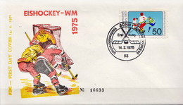 Germany FDC From 1975 - Hockey (su Ghiaccio)