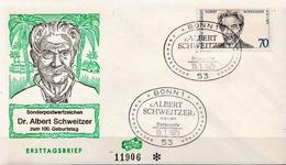 Germany FDC From 1975 - Albert Schweitzer