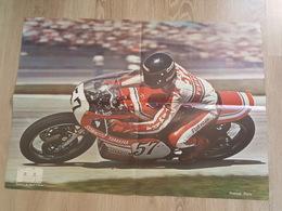 Moto De Course - Poster Pilote - Patrick Pont - Sonauto Yahama, Furygan - Motul N°57 - Photo F. Beau - Sports