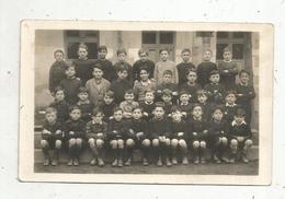 Cp , Carte Photo , Photo De Classe, Tours ,écrite - Schools