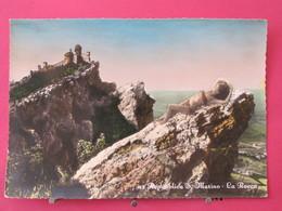 République De San Marin - La Rocca - Pin Up - Scans Recto Verso - San Marino
