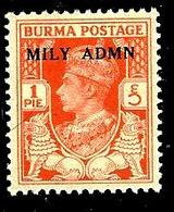 BIRMANIE Am1** 1p Rouge Orange Administration Militaire  (10% De La Cote + 0,26) - Myanmar (Burma 1948-...)