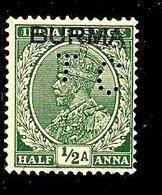 BIRMANIE 2° 1/2a Vert Timbre De L'Inde Anglaise Surchargé (10% De La Cote + 0,26) - Myanmar (Burma 1948-...)