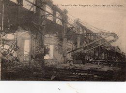 83 LA SEYNE SUR MER INCENDIE DES FORGES ET CHANTIERS DE LA SEYNE - La Seyne-sur-Mer