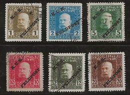 Autriche-Hongrie 1915 N°Y.T. :  1,2,4,6,7,8 Obl. - 1850-1918 Empire