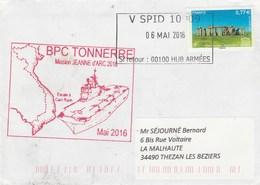 MIssion JEANNE D'ARC 2016 BPC TONNERRE Escale à Cam Ranh Cachet V SPID 10909 - Posta Marittima