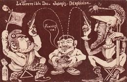 CPA Politique Caricature Satirique Le Terrible Duel JAURES / DEROULEDE  Illustrateur (2 Scans) - Satiriques