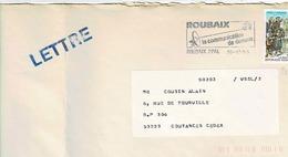 TP  N° 2827 Seul Sur Enveloppe De Roubaix - Marcophilie (Lettres)