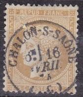 France,  Yvert N° 59 Oblitéré Càd 16 De Chalon/Saone - Marcofilie (losse Zegels)