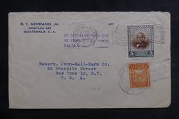 GUATEMALA - Enveloppe Pour New York En 1946, Affranchissement Plaisant - L 39796 - Guatemala