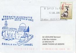 MIssion JEANNE D'ARC 2016 Frégate GUEPRATTE Escale En Israel Cachet V SPID 10423 - Storia Postale