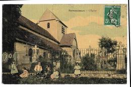 SOMMESOUS L'Eglise (carte Toilée, Colorisée) - Otros Municipios