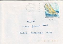TP  N° 2831 Seul  Sur Enveloppe De Caen Gare - Marcophilie (Lettres)
