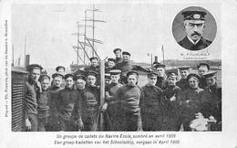 OOSTENDE - OSTENDE - Un Groupe De Cadets Du Navire Ecole, Sombré En Avril 1906 - Barche