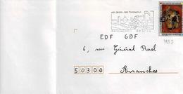 TP  N° 2833 Seul  Sur Enveloppe De Avranches - Marcophilie (Lettres)