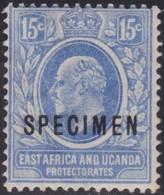 East Africa And Uganda .   SG   .   39  Specimen  .    *        .     Mint-hinged    .   /    .   Ongebruikt - Protectorados De África Oriental Y Uganda