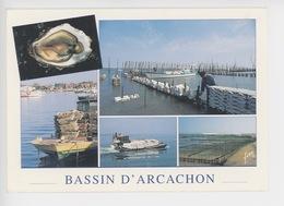 Bassin D'Arcachon : L'ostréiculture (cp N°83 Yvon Multivues) - Arcachon