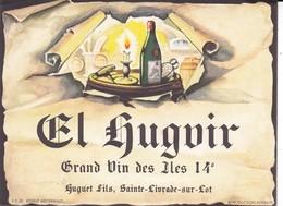 ETIQUETTE---47----SAINTE-LIVRADE--- HUGUET FILS--Grand Vin Des Iles 14°--voir 2 Scans - Etiquettes