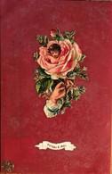 """CPA, Fantaisie, Souvenir, """"pensez à Moi"""", En Synthétique, Avec En Surface Texte Et Rose, écrite, Timbre - Altri"""