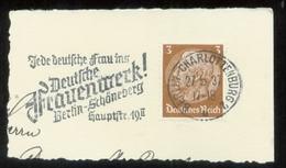 WW II Briefstück : Mit Werbestempel, Deutsches Frauenwerk ,Berlin Charlottenburg 1937 - Briefe U. Dokumente