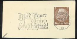 WW II Briefstück : Mit Werbestempel, Eisernes Kreuz, Feind Hört Mit ,Berlin Charlottenburg 1939 - Briefe U. Dokumente