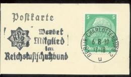 WW II Briefstück : Mit Werbestempel, Luftschutz ,Berlin Charlottenburg 1937 - Briefe U. Dokumente