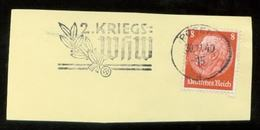 WW II Briefstück : Mit Werbestempel, WHW ,Posen 1940 - Allemagne