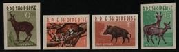 Albanien 1962 - Mi-Nr. 704-707 ** - MNH - Wildtiere / Wild Animals (II) - Albanien
