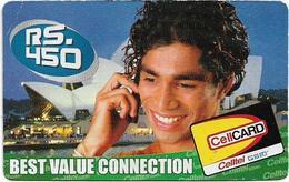 Sri Lanka - Celltel - Man On Phone, Prepaid 450Rs, Used - Sri Lanka (Ceilán)