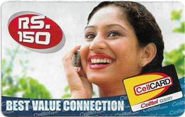 Sri Lanka - Celltel - Woman On Phone, Prepaid 150Rs, Used - Sri Lanka (Ceylon)
