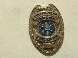 PIN'S POMPIER - FIREFIGHTER TUCSON - FIRE DEPARTMENT - Pompiers
