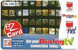 Sri Lanka - Dialog Tel. - EZ Card - Pictures Collage, Prepaid 100Rs, Used - Sri Lanka (Ceylon)
