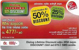 Sri Lanka - Dialog Tel. - EZ Card 50% Discount, Prepaid 100Rs, Used - Sri Lanka (Ceylon)
