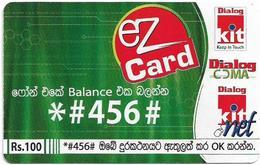 Sri Lanka - Dialog Tel. - EZ Card Green *#456#, Prepaid 100Rs, Used - Sri Lanka (Ceylon)