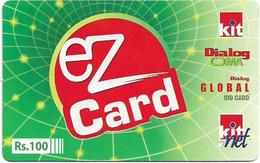 Sri Lanka - Dialog Tel. - EZ Card Green, Prepaid 100Rs, Used - Sri Lanka (Ceilán)