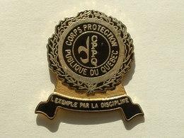 PIN'S CORPS PROTECTION PUBLIQUE DU QUEBEC - Police