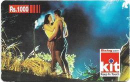 Sri Lanka - Dialog Tel. - KIT Card, Couple In Love, Prepaid 1000Rs, Used - Sri Lanka (Ceylon)