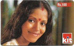 Sri Lanka - Dialog Tel. - KIT Card, Tamil Girl, Prepaid 100Rs, Used - Sri Lanka (Ceilán)
